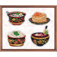 Russian Cuisine Cross Stitch Kit by Oven