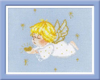 Cherub with Heart Cross Stitch Kit By Riolis