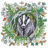 Badger Cross Stitch Kit By Heritage Crafts