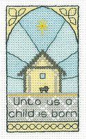 A Child is Born Cross Stitch Kit By Heritage Crafts