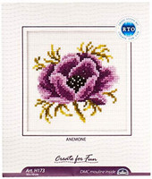 Anemone Cross Stitch Kit by DMC
