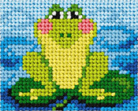 My First Embroidery Kit Frog By Orchidea