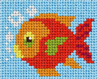 My First Embroidery Kit Fish By Orchidea