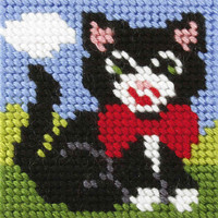 My First Embroidery Kit Cat By Orchidea