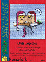 Owls Together Cross Stitch Kit by Mouseloft