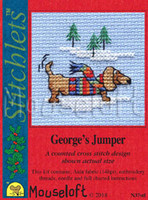George Jumper Cross Stitch Kit by Mouseloft