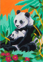 Panda & Cub CANVAS By Grafitec