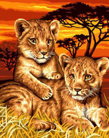 Lion Cubs CANVAS By Grafitec