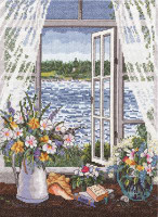 Breeze off the Ocean Cross Stitch Kit By Janlynn