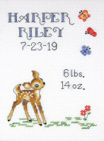 Baby Deer Sampler Cross Stitch Kit By Janlynn