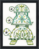 Turtle Pile Printed Embroidery Kit By Design Works