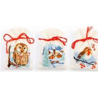 Counted Cross Stitch: Pot-Pourri Bags: Winter: set of 3 designs