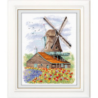 Dutch Windmill Cross Stitch Kit By oven