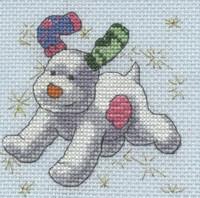 The Snowdog - Stars Cross Stitch Kit By DMC