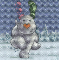 The Snowdog - Fir Trees Cross Stitch Kit By DMC