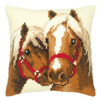 Horses Chunky Cross Stitch Cushion Kit By Vervaco