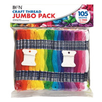 Jumbo pack of 105 Craft Threads