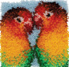 Lovebirds Latch Hook Rug Kit