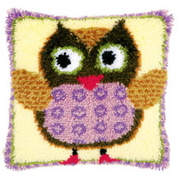 Miss owl Latch Hook Rug Kit by Vervaco