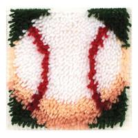Baseball Latch Hook Rug Kit