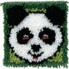 Panda on Green Latch Hook Rug Kit