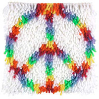 Peace Latch Hook Rug Kit