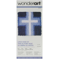 Cross of Light Latch Hook Rug by Caron