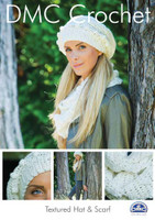 Textured Hat and scarf Crochet Pattern Booklet