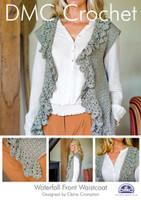 Waterfall Front Waistcoat Crochet Pattern Booklet
