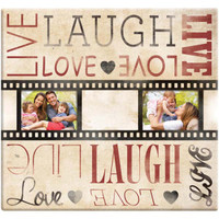 Film Strip Live Love Laugh Scrap Book Album with 20 Pages