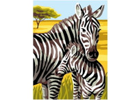 Zebra Tapestry Canvas by Anchor