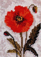 Poppy Head Tapestry Starter kit