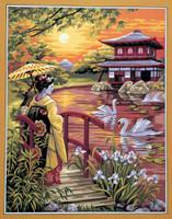 Fuji yama Tapestry Canvas