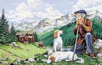 Le Vieux Montagnard Tapestry Canvas