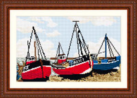 Fishing Boats Tapestry Kit