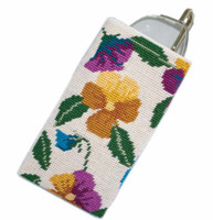 Pansy Garden on Cream Tapestry Kit By Cleopatra