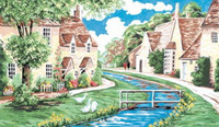 Lower Slaughter, Cotswolds Tapestry Kit