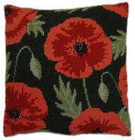 Wild Poppy Tapestry Cushion Kit