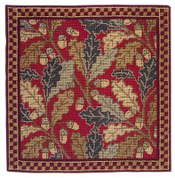Red Acorn Tapestry Cushion Kit