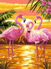Flamingo Tapestry Canvas