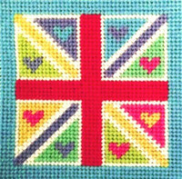 Flag Needle Point By Stitching Shed