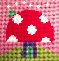 Toadstool Needle Point By Stitching Shed