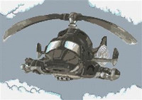 Air Wolf Helicopter Cross Stitch Kit