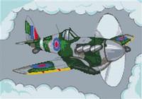 Spitfire Aeroplane Cross Stitch Kit