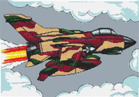 Tornado Aeroplane Cross Stitch Kit