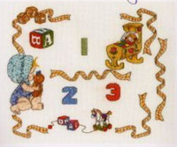 Baby Sampler With Numbers Cross Stitch Kit