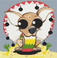 Chihuahua Dog Caricature Cross Stitch Kit