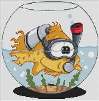 Goldfish Caricature Cross Stitch Kit
