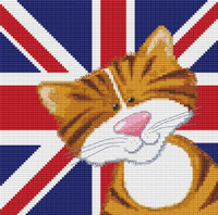 Harry & Friends Ginger Cat Cross Stitch Kit By Stitchtastic