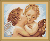 First Kiss - Detailed Cross Stitch Kit By Luca S